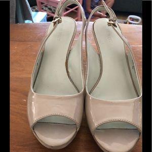 Nine West/Size 7/High Heel/Beige Shoes/Worn